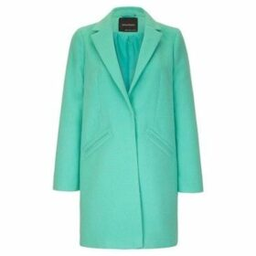 Anastasia  Women's Green Wool Slim Crombie Winter Coat  women's Coat in Green