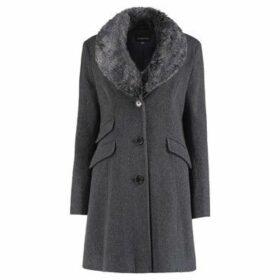 De La Creme  Fitted Winter Coat  women's Coat in Grey