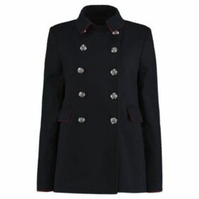 De La Creme  Winter  Military Designer Jacket  women's Coat in Blue
