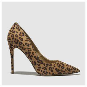 Schuh Brown & Tan Flirty High Heels
