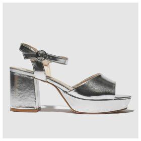 Schuh Silver Disco Low Heels