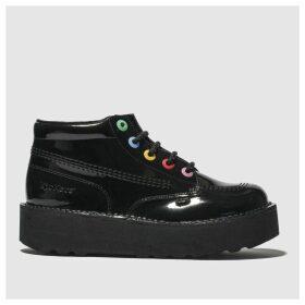 Kickers Black Kick Hi Stack Flat Shoes