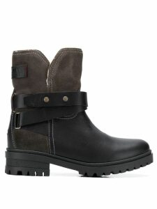 Tommy Jeans lined biker boots - Grey