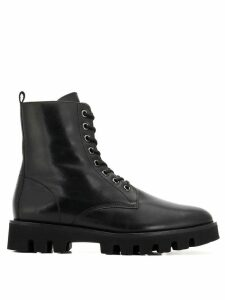Hogl lace-up cargo boots - Black