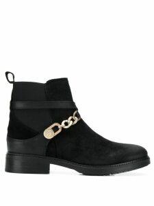 Tommy Hilfiger chain embellished ankle boots - Black