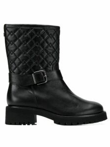 Hogl quilted mid-calf boots - Black