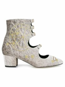 Liudmila Little Nell embroidered boots - Grey