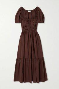 Diane von Furstenberg - Lanie Pussy-bow Floral-print Flocked Silk-blend Chiffon Blouse - Blue