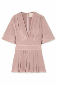 Roksanda - Pleated Silk Crepe De Chine Blouse - Blush