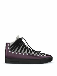 Swear Redchurch mid-top sneakers - Black/Grey/Purple