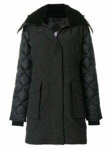Canada Goose shearling lined hooded coat - Black