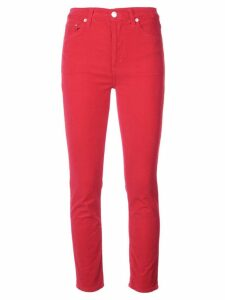 RE/DONE cropped skinny jeans - Red