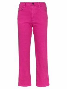 Simon Miller straight leg cropped jeans - Pink