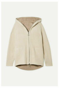Akris - Vanda Hooded Reversible Knitted Cardigan - Beige