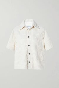 MICHAEL Michael Kors - Carolina Striped Gauze Midi Dress - Blue