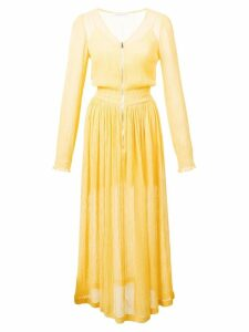 Jill Stuart crepe skater dress - Yellow