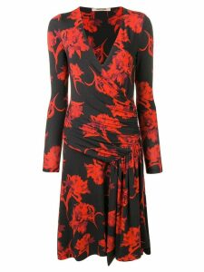 Roberto Cavalli printed V-neck dress - Black