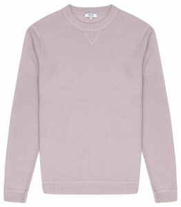 Reiss Pembroke - Lambswool Cashmere Blend Jumper in Lavender, Mens, Size XXL