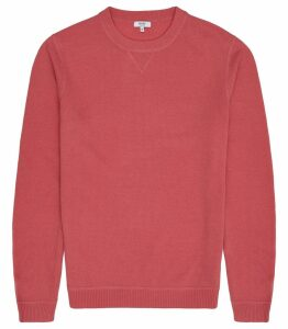 Reiss Pembroke - Lambswool Cashmere Blend Jumper in Pink, Mens, Size XXL