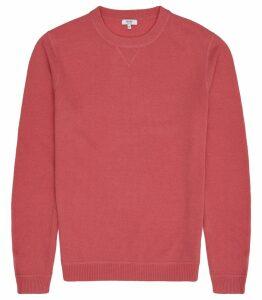 Reiss Pembroke - Lambswool Cashmere Blend Jumper in Pink, Mens, Size XXL