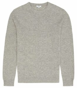Reiss Winner - Lambswool Cashmere Blend Jumper in Grey, Mens, Size XXL