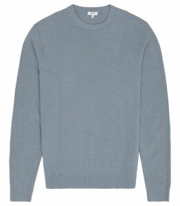Reiss Winner - Lambswool Cashmere Blend Jumper in Airforce Blue, Mens, Size XXL