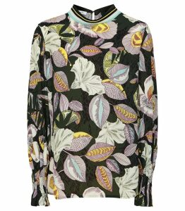 Reiss Flora - Floral Printed Blouse in Multi, Womens, Size 14