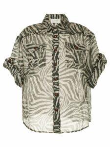 Zimmermann fading zebra print blouse - Black
