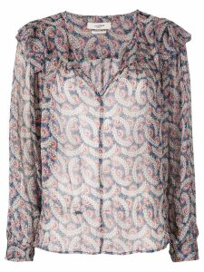 Isabel Marant Étoile frilled blouse - Blue