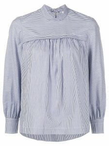 Tory Burch striped bow blouse - Blue