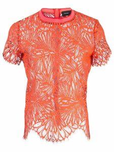 Proenza Schouler Lace Short Sleeve Top - Orange