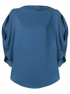 Mm6 Maison Margiela side slit blouse - Blue
