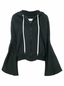 Facetasm flared sleeve zip hoodie - Black