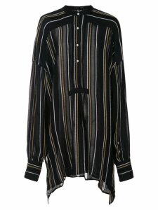 Proenza Schouler Crepe Striped Shirt - Black