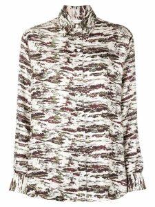 Victoria Beckham camouflage shirt - NEUTRALS