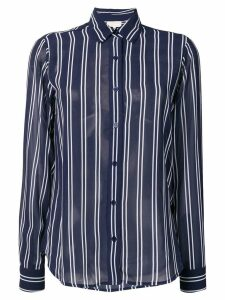 Michael Michael Kors striped Georgette blouse - Blue