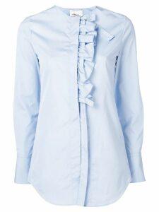 3.1 Phillip Lim ruffle placket collarless shirt - Blue