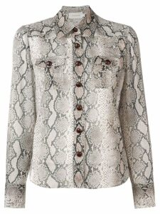 Zimmermann python print shirt - NEUTRALS