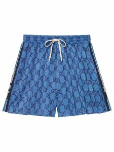 Gucci GG technical jersey shorts - Blue