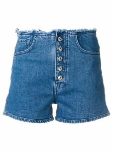 7 For All Mankind frayed waist denim shorts - Blue