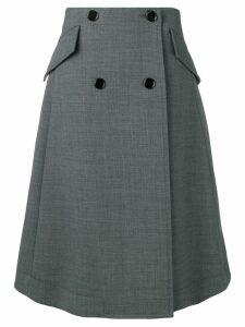 Mm6 Maison Margiela buttoned A-line skirt - Grey