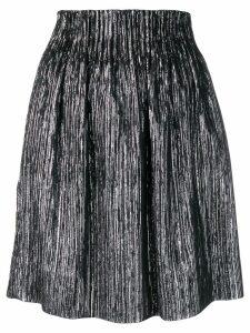 Isabel Marant high-waisted metallic-effect skirt - Black