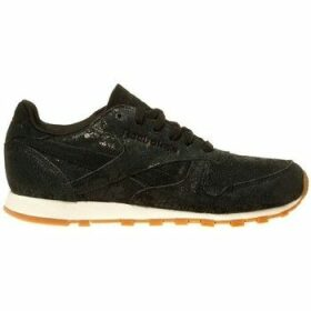Reebok Sport  Classic Lthr Clean Exotics  women's Shoes (Trainers) in Black