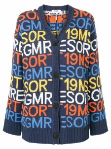 MSGM Resort 19 cardigan - Blue
