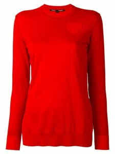 Proenza Schouler cut out heart jumper - Red