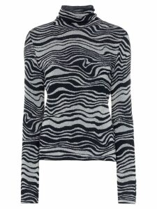 Sies Marjan Roos Waves jacquard knit turtleneck - Black