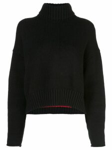 Proenza Schouler Cotton Cashmere Turtleneck Sweater - Black