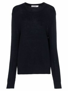 Jil Sander wool loose fit long sleeve jumper - Blue