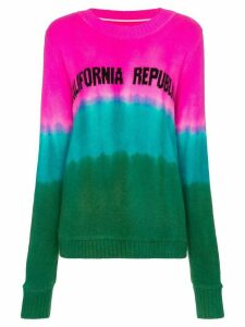 The Elder Statesman tie dye California intarsia cashmere sweater -