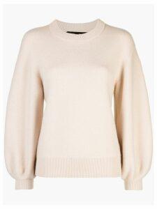 Proenza Schouler Cashmere Puff Sleeve Sweater - Neutrals